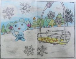 Wooper First Persp. 'Snow Scene and Snowflakes'