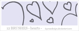 HeartBrushes by icyrosedesign