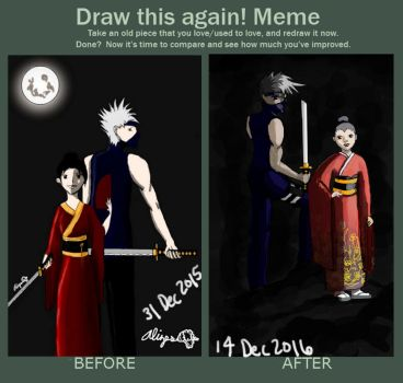 Draw this Again Shikako and Kakashi by AlizesArt