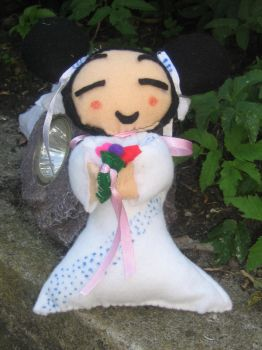 Pucca the Bride plushie by LadyRafira