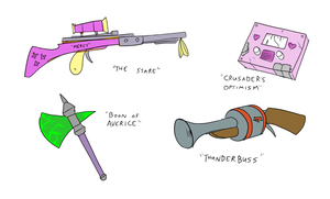 Updated Weapons Concept by Metal-Kitty