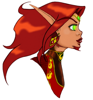 Loreielle profile view colored by NetherStray