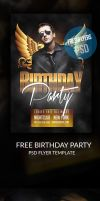 Free Birthday PSD Flyer Template by ImperialFlyers