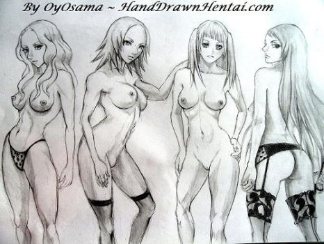 Claymore Girls Together nude by HandDrawnHentai
