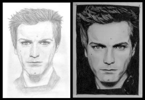 Ewan McGregor: 2004 vs 2009 by EldalinSkywalker