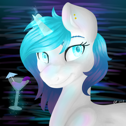Cocktail Sunset by Meownimator