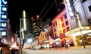 Granville Strip at Night III by Sunhillow