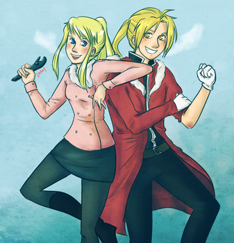 Ed and Winry by lortay
