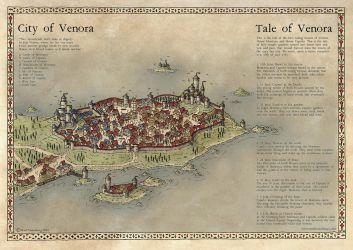 City of Venora 2015: Challenge map by Traditionalmaps