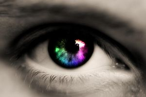 Rainbow eye by The-Dogfather