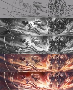 Wonder Woman: Love in War  process by Quan-Xstyle