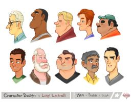 Men Profile Bust by LuigiL