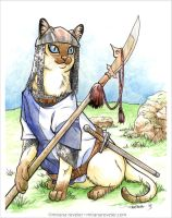 Medieval Cat Series - #1 Pikeman by mirana