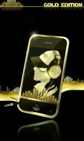 iphone GOLD by foxygamergirl