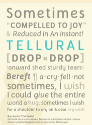 Tellural Font Poster - Type Specimen by nymphont
