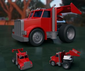 Toy Jetengine Truck by ikkiz