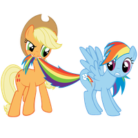 AppleJack and Rainbow Dash by lolke12