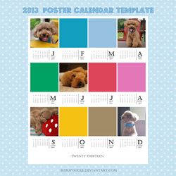 2013  Poster Calendar Template by bubupoodle