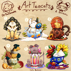 Art Teacats (closed) by scribblin