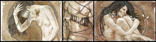 Chained Triptych by Hexonal