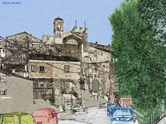 The town of Calcata - Il paese di Calcata by Book-Art