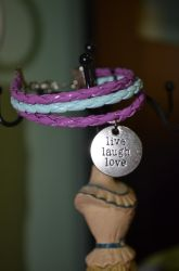 blue and violet live laugh love by ghelalala
