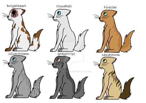 Warrior cat designs by NightOfTheZombies