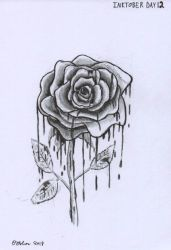 Inktober Day 12 - Ink Rose by Creative-Dreamr