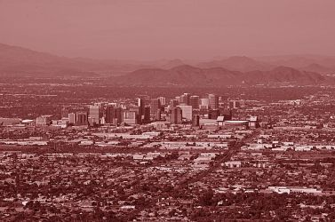 red cityscape of phoenix by cooldude2819