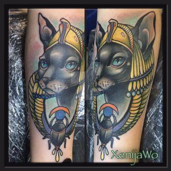 Sphinx tattoo by Xenija88