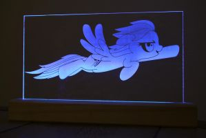Rainbow Dash Acrylic LED Picture by steeph-k