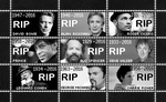 R.I.P. Celebrity Stamp Sheet by poserfan