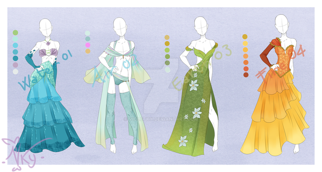 :: Outfit Adoptable: Elements :: Closed by VioletKy