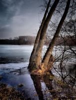 Spring thaw on lakes by hadeeldar