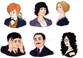Fantastic Beasts stickers + Bellatrix preview by Phydia