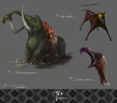 _Creature Concepts I by helloleek