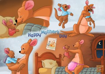 Kanga and Roo Early Mother's Day gift by KareSilver