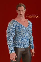 1/ 6 scale hand knit sweater on Hot Toys TTM 20 by Hegemony77