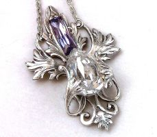 Provence Lavender Necklace 1 by Aranwen