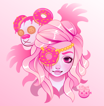 Donut Girl by KittRen