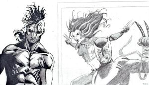 Practice: Daken and X-23 by onyx-forerunner