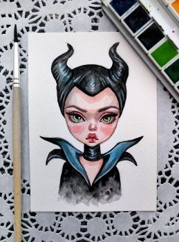 Maleficent by BlackFurya