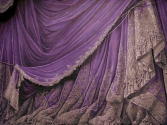 Backdrop Vintage Theater Stage Curtain - Plum by EveyD