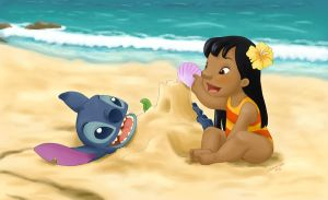 Lilo and Stitch by Kahimi-chan