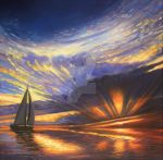 Sailboat Sunset by HouseofChabrier