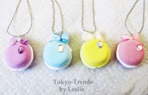macaroon party necklaces by Tokyo-Trends