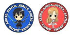 Kirito and Asuna badges design by 0bakasan