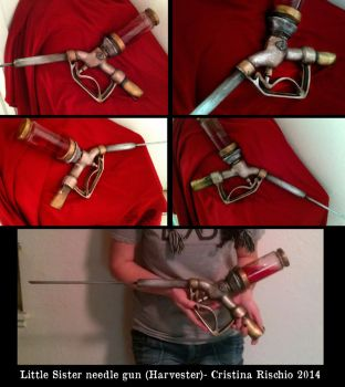 Bioshock Little sister needle gun prop by Riskyo
