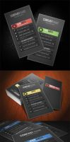 PROFILE Business Card 5 Different Color by calwincalwin