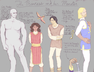 Princess and Monster Line-Up by BaaingTree